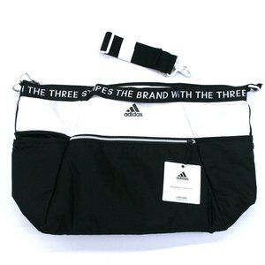 "Adidas Studio III Duffel Workout Large Bag (21""x14""x10"") Black & White"